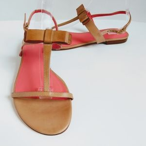 Kate Spade Leather Sandals with Bow Detail Size 11